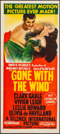 """Movie Posters:Academy Award Winners, Gone with the Wind (MGM, R-Early 1950s). Folded, Very Fine-.Australian Daybill (13.5"""" X 30""""). Academy Award Winners.. ..."""