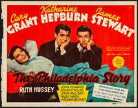 "The Philadelphia Story (MGM, 1940). Fine+. Trimmed Title Lobby Card (10.75"" X 13.75""). Comedy"
