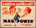 Movie Posters:Drama, Manpower (Warner Bros., 1941). Fine/Very Fine. Tit...
