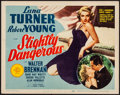 "Movie Posters:Romance, Slightly Dangerous (MGM, 1943). Very Fine-. Title Lobby Card (11"" X14""). Romance.. ..."