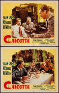 "Movie Posters:Film Noir, Calcutta (Paramount, 1946). Very Fine-. Lobby Cards (2) (11"" X 14""). Film Noir.. ... (Total: 2 Items)"