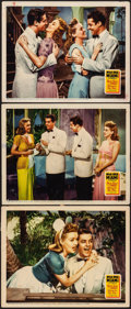 """Movie Posters:Musical, Moon Over Miami (20th Century Fox, 1941). Fine/Very Fine. LobbyCards (3) (11"""" X 14""""). Musical.. ... (Total: 3 Items)"""