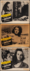 "Movie Posters:Western, The Outlaw (RKO, R-1950). Fine+. Lobby Cards (3) (11"" X 14""). Western.. ... (Total: 3 Items)"