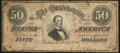 Confederate Notes:1864 Issues, T66 $50 1864 PF-1 Cr. 495 Fine.. ...
