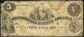 Confederate Notes:1861 Issues, T36 $5 1861 PF-3 Cr. 276 Good-Very Good.. ...