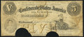 Confederate Notes:1861 Issues, T32 $5 1861 PF-2 Cr. 249 Very Good-Fine.. ...
