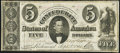 Confederate Notes:1861 Issues, T34 $5 1861 PF-5 Cr. 263 Fine.. ...