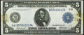 Fr. 848 $5 1914 Federal Reserve Note Very Fine
