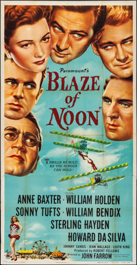 "Blaze of Noon (Paramount, 1947). Folded, Fine/Very Fine. Three Sheet (41 ""X 79.5""). Action. From the Collectio..."