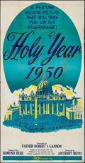 "The Holy Year at the Vatican & Other Lot (20th Century Fox, 1950). Folded, Fine+. Three Sheet (41"" X 79"")..."