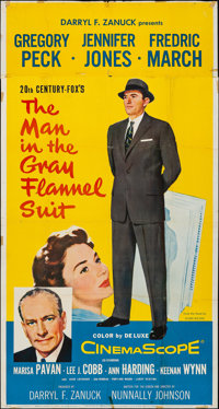 "The Man in the Gray Flannel Suit (20th Century Fox, 1956). Folded, Fine/Very Fine. Three Sheet (41 ""X 77.5"")..."