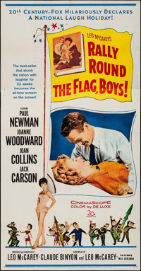 "Rally 'Round the Flag, Boys! (20th Century Fox, 1959). Folded, Fine/Very Fine. Three Sheet (41"" X 79""). Comedy..."