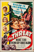"""Movie Posters:Crime, The Threat (RKO, 1949). Folded, Very Fine-. One Sheet (27"""" X 41""""). Crime.. ..."""