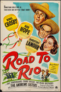 """Movie Posters:Comedy, Road to Rio (Paramount, 1948). Folded, Fine/Very Fine. One Sheet(27"""" X 41""""). Comedy.. ..."""
