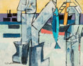 Fine Art - Painting, American, Karl Knaths (American, 1891-1971). Fishers, 1953. Oil oncanvas. 40 x 50 inches (101.6 x 127 cm). Signed lower left:K...