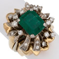 Estate Jewelry:Rings, Emerald, Diamond, Gold Ring Set. ... (Total: 2 Items)