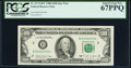 Small Size:Federal Reserve Notes, Fr. 2172-B* $100 1988 Federal Reserve Star Note. PCGS Superb Gem New 67PPQ.. ...