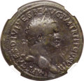 Ancients:Roman Imperial, Ancients: Titus (AD 79-81). AE sestertius (35mm, 25.73 gm, 6h). NGCFine 5/5 - 3/5, smoothing....