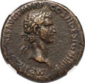 Ancients:Roman Imperial, Ancients: Nerva (AD 96-98). AE sestertius (33mm, 25.81 gm, 6h). NGCVF 4/5 - 3/5....