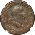 Ancients:Roman Imperial, Ancients: Vespasian (AD 69-79). AE sestertius (34mm, 27.03 gm, 6h).NGC Choice Fine 4/5 - 3/5....