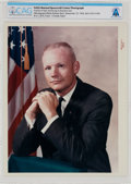 "Explorers:Space Exploration, Neil Armstrong: Original NASA ""Red Number"" Business Suit Pose Color Photograph Directly From The Armstrong Family Collection™,..."