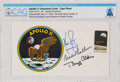 "Explorers:Space Exploration, Apollo 11 Crew-Signed ""Type Three"" Insurance Cover Directly From The Armstrong Family Collection™, CAG Certified...."