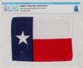 "Explorers:Space Exploration, Apollo 11 Flown ""Lone Star"" State Flag of Texas Directly From The Armstrong Family Collection™, CAG Certified...."
