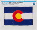 Explorers:Space Exploration, Apollo 11 Flown Flag of the State of Colorado Directly from The Armstrong Family Collection™, CAG Certified. ...