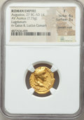 Ancients:Roman Imperial, Ancients: Augustus (27 BC-AD 14). AV aureus (18mm, 7.73 gm, 4h).NGC Fine 4/5 - 3/5, bankers mark....