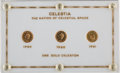 Explorers:Space Exploration, Celestia, The Nation of Celestial Space: Three Gold Celestons, 1959 &1960 (Two), in Original Holder. ...