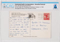 Explorers:Space Exploration, Neil Armstrong Handwritten 1964 Postcard to His Parents from Hawaii Directly From The Armstrong Family Collection™, CAG Certif...