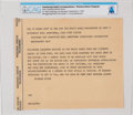 Explorers:Space Exploration, President Richard Nixon: Western Union Telegram to Neil Armstrong upon His Wapakoneta Homecoming Celebration Directly from The...
