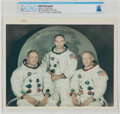 "Explorers:Space Exploration, Apollo 11: Original NASA ""Red Number"" White Spacesuit Crew Color Photograph Directly From The Armstrong Family Collection™..."