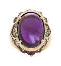 Estate Jewelry:Rings, Amethyst, Diamond, Multi-Stone, Gold Ring. ...