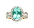 Estate Jewelry:Rings, Paraiba-Type Tourmaline, Diamond, Gold Ring. ...
