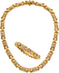 Estate Jewelry:Suites, Diamond, Gold Jewelry Suite, French The suite ...
