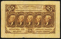 Fractional Currency:First Issue, Fr. 1282SP 25¢ First Issue Wide Margin Face Very Fine.. ...