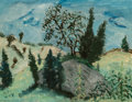American, Milton Avery (American, 1885-1965). Untitled (Landscape),circa 1940. Oil on canvasboard. 14 x 18 inches (35.6 x 45.7 cm...