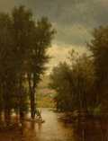 Fine Art - Painting, American, Thomas Worthington Whittredge (American, 1820-1910). Flood onthe Delaware, 1880. Oil on canvas. 35-1/4 x 26-3/4 inches ...