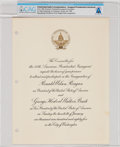 Explorers:Space Exploration, President Ronald Reagan's Inaugural Committee: Invitation Sent to Neil and Janet Armstrong for His Second Inauguration on Janu...