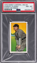 Baseball Cards:Singles (Pre-1930), 1909-11 T206 Sweet Caporal 350/30 Charley O'Leary (Hands on Knees) PSA NM-MT 8 - None Higher! ...