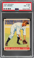 Baseball Cards:Singles (1930-1939), 1933 Goudey Joe Cronin #189 PSA NM-MT 8 - None Higher....