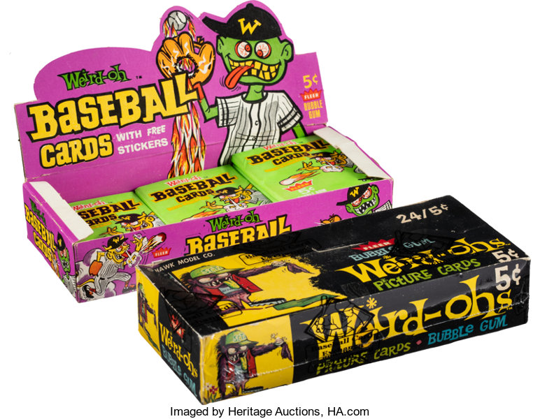 1965 Fleer Weird Ohs Picture Baseball Cards Wax Boxes