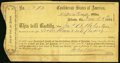 Confederate Notes:Group Lots, Atlanta, GA Interim Depository Receipt $700 March 18, 1864 Tremmel GA-20A Fine-Very Fine.. ...