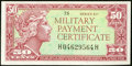 Military Payment Certificates:Series 611, Series 611 50¢ Choice New.. ...