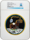 Explorers:Space Exploration, Apollo 11: Neil Armstrong's Personally-Owned Texas Art Embroidery Crew Patch as Worn on Bio-Garments in Quarantine Directly Fr...