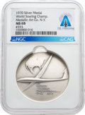 Explorers:Space Exploration, Neil Armstrong's Silver Medallic Art Company 1970 Soaring Society of America XII World Soaring Championships Medal, MS 68 NGC,...