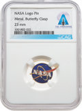 Explorers:Space Exploration, NASA Logo Pin From The Armstrong Family Collection™, CAG Certified. ...
