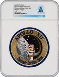 Explorers:Space Exploration, Apollo 12: Neil Armstrong's Personally-Owned Lion Brothers Hallmarked Mission Insignia Patch Directly From The Armstrong Famil...