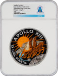 Explorers:Space Exploration, Apollo 13: Neil Armstrong's Personally-Owned Lion Brothers Hallmarked Mission Insignia Patch Directly From The Armstrong Famil...